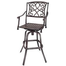 Cast Aluminum Swivel Bar Stool Patio Furniture Antique Copper Design Outdoor New