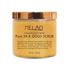 MELAO 24K Gold Body & Facial Scrub,Anti Aging Face and Body Scrub Formula H Q2V9