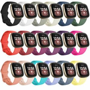 for Fitbit Versa 3 / Sense Replacement Strap Silicone Band Bracelet Wrist