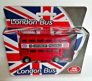 London Bus  Die Cast Metal Toy Gift Souvenir Oxford St Piccadilly