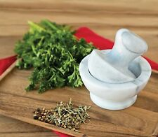 Fox Run Marble Mortar Pestle Spice/Pepper/Salt/Nut/Herb Fine Grinder Server New