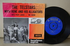 """THE TELSTARS WITH RENE AND HIS ALLIGATORS NM 45 7"""" SINGLE PS DUTCH GARAGE PSYCH"""