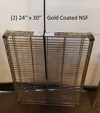 """(2) 24"""" x 30"""" Industrial Metro Wire Storage Shelving Shelf Gold Coated Nsf"""