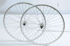 700c WHEELS 5, 6 7 SPEED QUICK RELEASE HUBS 135mm O.L.D DOUBLE WALL WHITE RIM