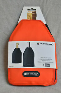 Le Creuset WINE BOTTLE Cooler SLEEVE chiller Orange Original Screwpull Design