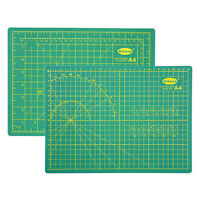 """A4 Double Sided Self Healing Board Cutting Mat Non Slip 5 Layers 12""""x9"""" Green US"""