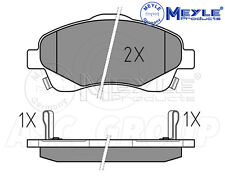 Meyle Brake Pad Set, Front Axle With anti-squeak plate 025 237 6819/W