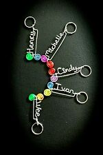 Wirecraft Artist Event Dinner & Dance Personalised Keychain Bookmark Rings Name