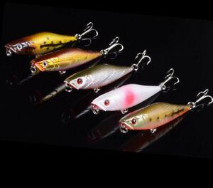 4PCS Minnow Fishing Lure Crankbaits Wobble Plastic Hard Bait Pesca 3D Eyes