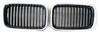 2x GRIGLIA PARAURTI ANTERIORE SX DX per BMW 3 (E36) (1990-1995) Cromato nero