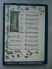 Cimelia Heidelbergensia 30 illuminierte Handschriften Universitätsbibliothek Hei