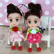 10CM Princess Girl Doll Key Chain Kids Baby Dolls Keychain Toys Keyring G Fz