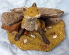 Fox Figurine Bird Watcher by Martha Carey
