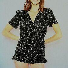 New Polka Dot Teddy Style Playsuit Pyjamas Size 10