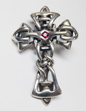 Celtic Rose-Cross Silver Necklace