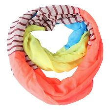 Women's Infinity Scarf Lightweight Circle Loop Wrap Fun Printed Sheer Shawl