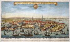 DÄNEMARK KOPENHAGEN HAFNIA METROPOLIS FREGATTE SCHIFFE MERIAN ARCHONTOLOGIA 1638