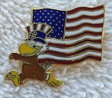 1984 LOS ANGELES OLYMPICS  Sam Olympic Eagle Pin AMERICAN FLAG Pre-owned