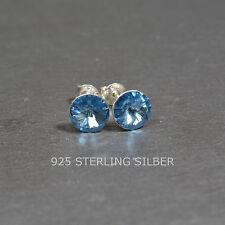 Ohrstecker mit Swarovski® Elements Sterling Silber 925 Rivoli 8mm aquamarine