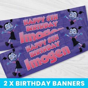 Personalised Vampirina Birthday Banner - Children Party Banner x 2