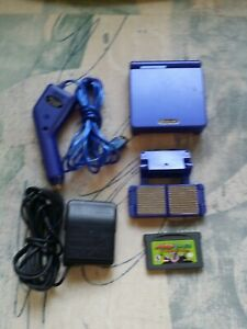 Nintendo Game Boy Advance SP Cobalt Blue Handheld System with Mario Luigi