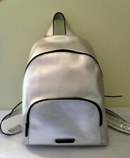 NWT Kendall + Kylie Silver Metallic Vegan Leather Hot Backpack Designer Bag $325