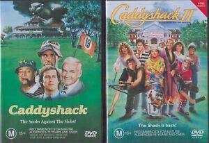 2 x Caddyshack DVDs - Caddyshack + Caddyshack II Chevy Chase Bill Murray NEW