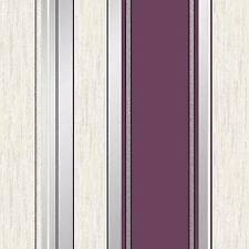 Synergy Rayure Papier Peint Paillette Prune - Vymura M0800 Neuf