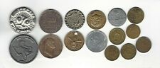 I17. Lot Of 17 Tokens: 5 Vintage Advertising, 6 Us Trade, 4 Other Types