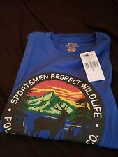 Polo Ralph Lauren Sportsman Respect Wildlife Tee T Shirt Blue