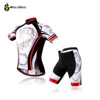 Mens MTB Bike Cycling Jersey Shorts Set Short Sleeve Outfits Suit Team Clothing