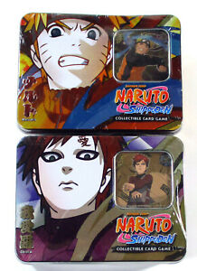 Lot of (2) Naruto CCG The Guardian of the Village Collector Tin 1 & 3 Sealed