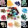 50 Pcs Round Imitation Gemstone Acrylic Beads For Jewellery Making 8mm Hole 2mm