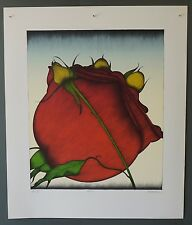 """Original signed Art Hansen lithograph """"Roses"""" - from large private collection"""