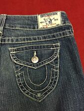 Womens TRUE RELIGION JOEY Twisted Flare Jeans Sz 28 x 32 Excellent