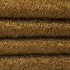 """1/6 yd 300S/C Chocolate Intercal 1/2"""" Ultra-Sparse Curly S-Finish Mohair Fabric"""
