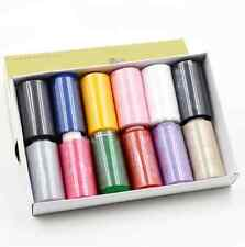 12pcs (1XBox) Spools Multi Colors Overlocking Sewing Thread, Sewing thread pack