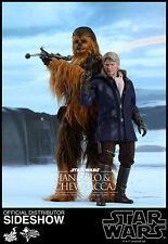 "Han Solo Chewbacca 2-Pack Star Wars The Force Awakens MMS376 12"" Figur Hot Toys"