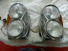 2 PHARES  US HEADLIGHT . MERCEDES W108/109/111 . COMPLETS VERRES BLANCS