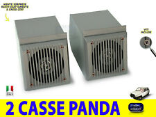 Crates fiat panda fire Tuning Car speakers front grey 1986 > 2003 stereo