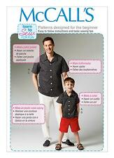 McCalls SEWING PATTERN M6972 Mens/Boys Shirt,Shorts & Pants Learn To Sew For Fun
