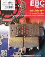 EBC/FA188HH Sintered Brake Pads (Front) - Kawasaki ZX6R, ZX7R, ZX9R, ZRX1100
