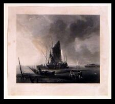 DUTCH SCHOOL PIER 1825 Samuel William Reynolds - Adriaen van der Cabel ENGRAVING
