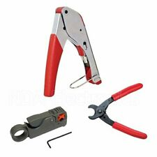 Compression RG59 RG6 BNC TOOL Coax  striper wire Cutting Pliers Cable Tool Kit