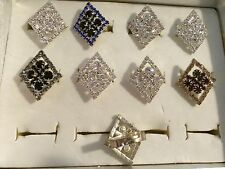 10 rings wholesale jewelry lot Rhinestone Multi-Color  fashion rings