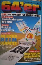 64er (64´er) 11/89 November 1989 C64 Commodore 64 (Heimcomputer-Duell)