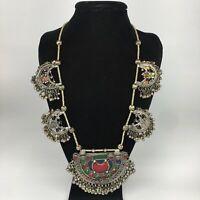 """261.2g, 30"""" Kuchi Necklace Tribal Chains Bells Jingle ATS, Statement Boho,TN500"""