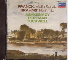 Franck: Violin Sonata, Brahms Trio Per Corno / Ashkenazy, Perlman, Tuckwell  CD