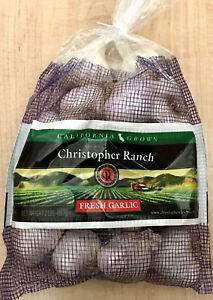 FRESH! Gilroy Garlic Christopher Ranch Calif. Heirloom USA Grown 2 lbs FREE Ship
