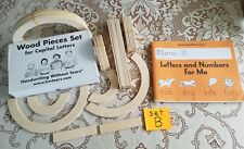 Set B - Handwriting Without Tears Wood Pieces Capital Letters Workbook Lot 32